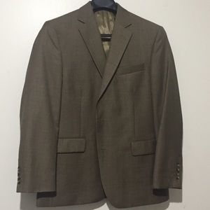 Stafford classic fit travel brown suit jacket 42R